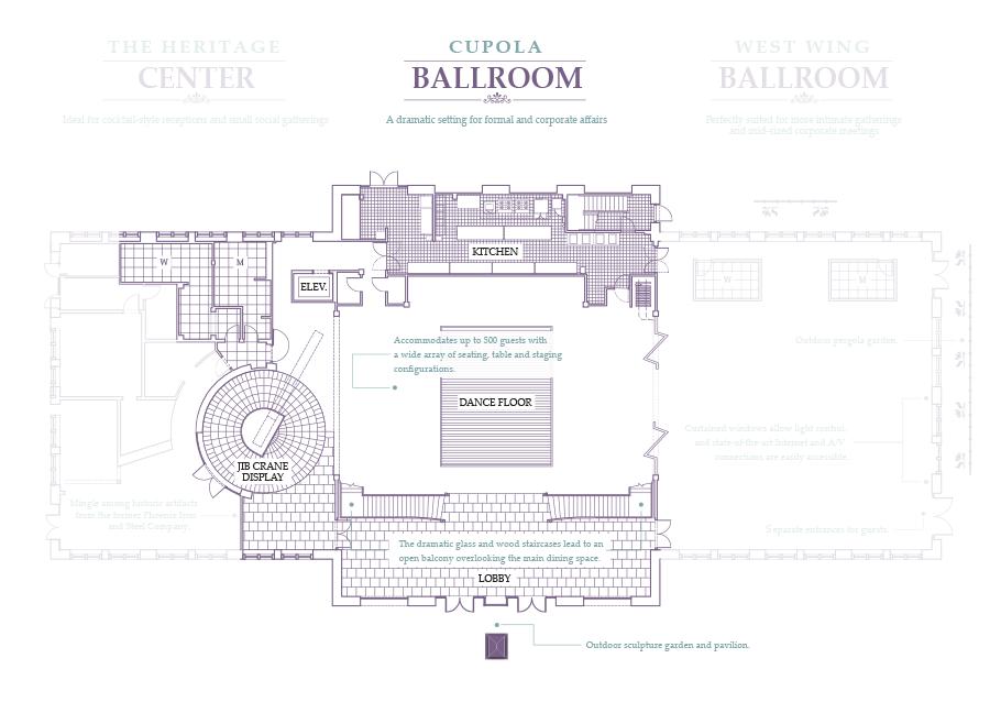 Cupola Ballroom Mezzanine Phoenixville Foundry