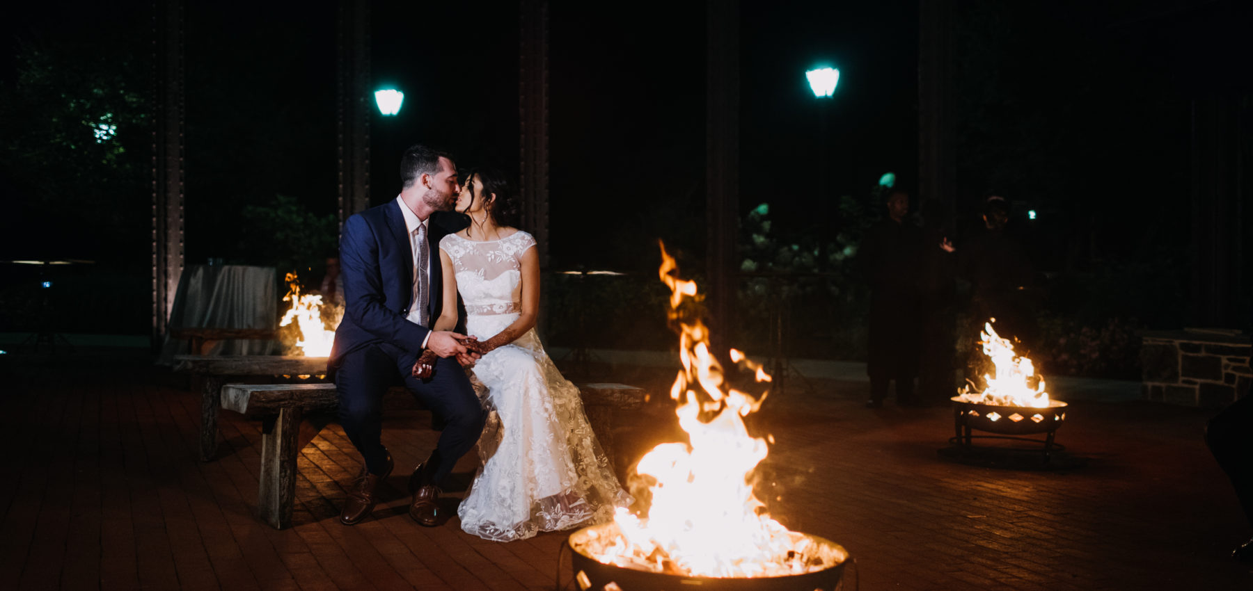 Bride and Groom Bonfire Pits at Phoenixville Foundry