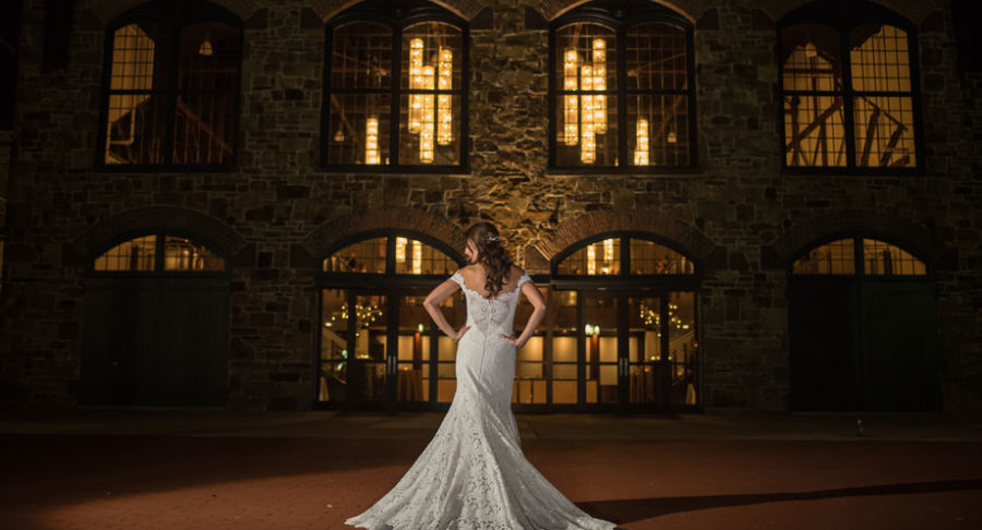 Bride outside the Poenixville Foundry