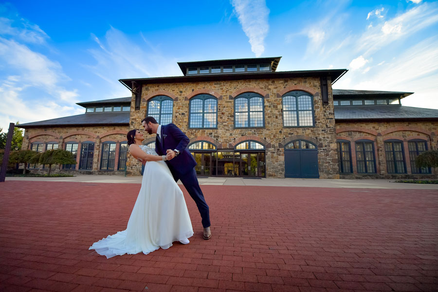 Wedding Photography in Front of the Phoenixville Foundry