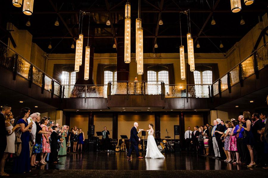 Mezzanine's Glittering Chandeliers